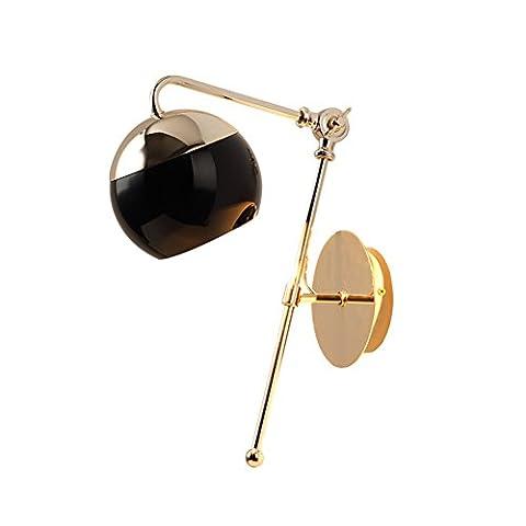 Post modern minimalist bedroom bedside lamp/ simple European-style lamps/ Scandinavian luxury fashionLED wall lamp-A