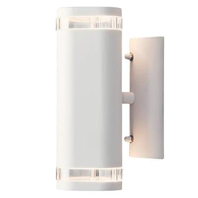 Konstsmide Modena 7512-250 Wandleuchte B: 9cm T: 14,5cm H: 23,5cm / 2x35W / IP44 / lackiertes Aluminium / matt-weiss von Gnosoe Konstsmide GmbH auf Lampenhans.de