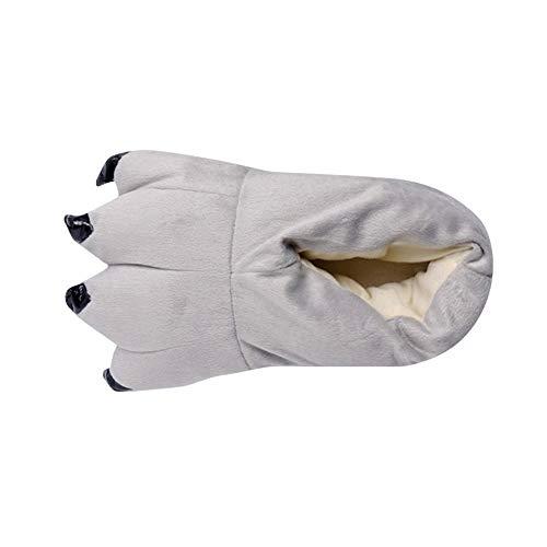 MYMYG Erwachsene Männer Plüsch Hausschuhe Lustige Tier Paw Monster Claw Schuhe Winterschuhe Mode Warme Flache Schuhe Rutschfest Baumwolle Pantoffeln ()