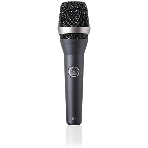 AKG D5 - Micrófono dinámico (para voz, de mano), color negro