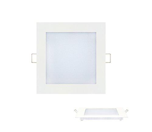 9w Slim Flach LED Panel Einbaustrahler Unterputz Einbauleuchte Einbaulampe Deckenleuchte Deckenlampe Lampe Eckig 150x150 mm Warmweiss -