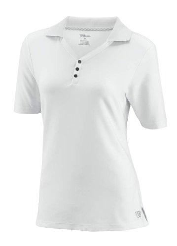 Wilson - Polo da donna W Rush, Bianco (bianco), M