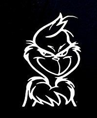 SUPERSTICKI® The Grinch Dr Seuss Aufkleber Decal Hintergrund/Maße in inch Vinyl Sticker|Cars Trucks Vans Walls Laptop| White |5.5 x 3.5 in|CCI877 (Seuss Hintergrund Dr)