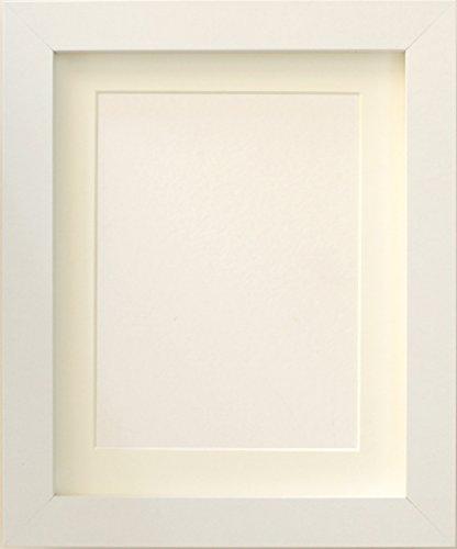 Tailored Frames-White quadratisch Design Bilderrahmen Größe 25,4x 20,3cm für 17,8x 12,7cm mit Antik weißem Passepartout, zu Stehen, Hängen die. - Frame Stehen