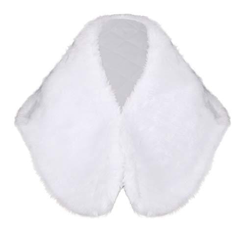 Lacey bell soffice coprispalle pelliccia sintetica bambina scialle prima comunione bolero cj68
