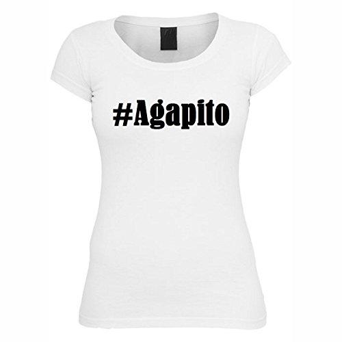 T-Shirt #Agapito Hashtag Raute für Damen Herren und Kinder ... in den Farben Schwarz und Weiss Weiß