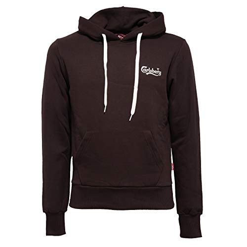 Carlsberg 7032J Felpa Uomo Dark Brown Heavy Cotton Sweatshirt Man [S]