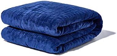 GRAVITY Blanket: Weighted Blanket, la Coperta ponderata per Il Sonno, Blu Navy, 121cm x 182cm, 7kg