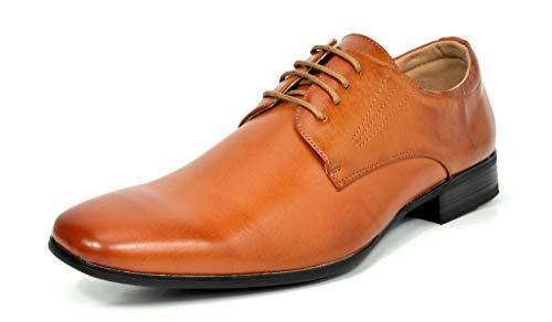 Bruno Marc Herren Gordon-03 Braun Leder Gefüttert Snipe Toe Kleid Oxfords Schuhe Größe 42 EU (Kleider Juniors Arbeit)