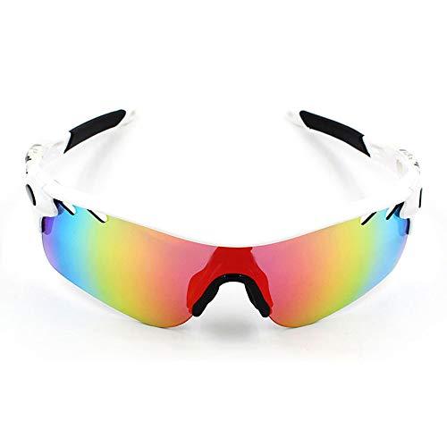 Gläser Polarisierte Sport-Sonnenbrille-Schutzbrillen Motorrad-Schutzbrillen Lenes Für Männer Frauen Radfahren Laufen Fahren Brillen (Color : 5, Size : One Size)