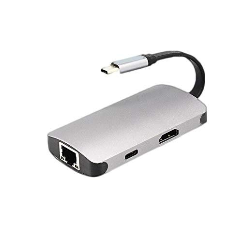 Fannty Portable Typ C 3.1 Pd Lade Rj45 Netzwerkanschluss Typ C Zu 4K Hdmi USB3.0 Hub Adapter Konverter -