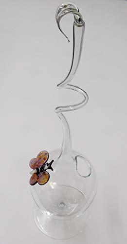 Rosenvase Orchideenvase Glas Schmetterling Lauscha Handmade Vase für Rosen Qualität