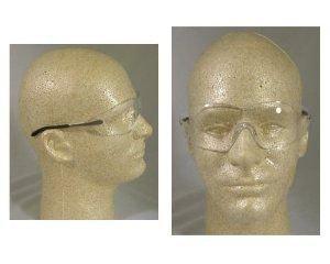 MCR Safety S2110AF Blackjack Occhiali di sicurezza con metallo cromato e trasparente da sole aviator, lenti Anti-nebbia per MCR Safety