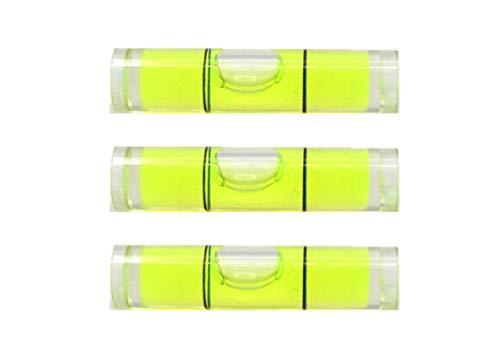 Acryl-Wasserwaage, rund, 8 x 35 mm, Farbe, grün