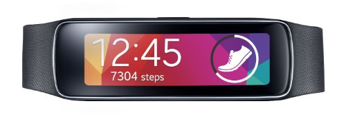 Samsung Gear Fit Fitness Watch with Heart Rate Monitor - Black (Generalüberholt)