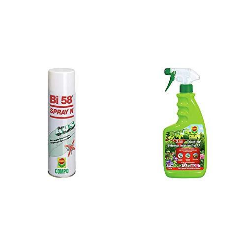 Bi 58 Spray, Bekämpfung von Schädlingen an Zierpflanzen, Anwendungsfertig, 400 ml & COMPO Triathlon Universal Insekten-frei AF, Bekämpfung von Schädlingen an Zier- und Zimmerpflanzen, 750 ml