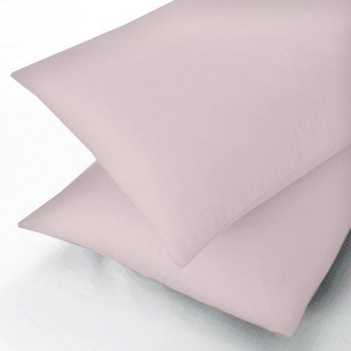 Sanderson Pima-Baumwolle unifarbene Standard Kissenbezug, Perkal, verschiedene Farben, rose, 48 x 74 x 0.1 cm