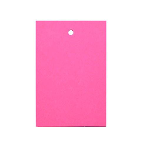 500 x Rosa Preisschild Etikett Karte Hang Tag 60mm x 40mm