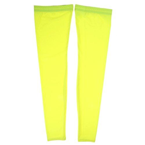 SM SunniMix Radsport Beinwärmer Atmungsaktiver, Eng Anliegender Thermo Wärmeschutz - Gelb, M