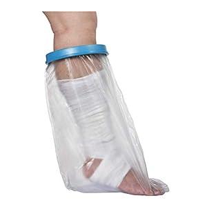 Hfour Wasserdichter Schutz Für Erwachsenes Unterbein-Komplette Dichtung Wiederverwendbar-Für Fuß, Knie, Knöchel Wunde Im Baden (25 * 16,5 * 7,5 In)