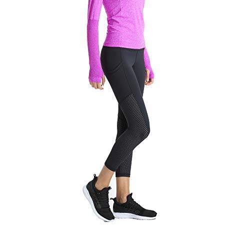5aa9d2b5362 Leggings 3 4 Mujer Deportivos Fitness Gym Pantalones Running Yoga Leggins  Deporte Tallas Grandes Negro