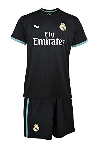 Holiprom - Mini Kit Replica Domicile RONALDO - Ensemble maillot et short enfant Real Madrid - Tenue coffret mixte collection officielle foot - Vêtements kids sport sous licence pour supporter club de foot - Noir (Noir/Vert) - FR: L (Taille Fabricant: 12 ans)