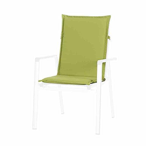 sun garden Esdo Coussin pour Fauteuil, Polyester, Vert, 110 x 47 x 4 cm, 10190428