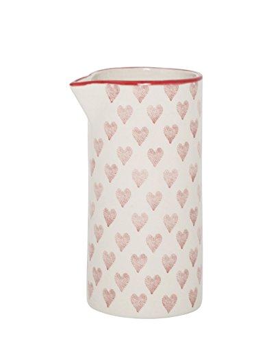 IB Laursen - Kanne, Krug, Kännchen, Milchkännche, Gießer - mit Herzen - Keramik - 0,2 Liter
