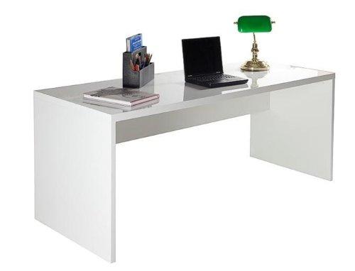 Composad Schreibtisch KRONOS in Hochglanz weiß