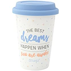 "Mr. Wonderful Taza take away con mensaje ""The best dreams happen when you wake up"""