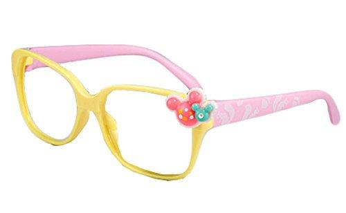 Kunststoff gelb und rosa lustige Brillengestelle Kinderfest-Dekoration Props