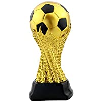 WM-Trophäe, Sport-Fußball-Liga Gedenk-Trophäe Kopie Version Golden Football Schriftzug Version - Gold