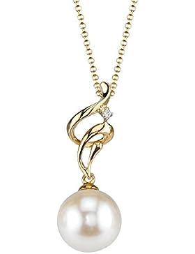 Kettenanhänger Aria 18 Karat (750) Gold Akoya-Perle Diamant
