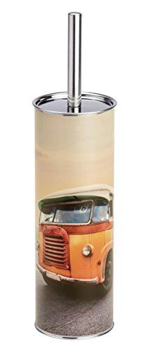 Wenko 21600100 WC-Garnitur Vintage Bus, Stahl, 9,5 x 37,5 x 9,5 cm, mehrfarbig