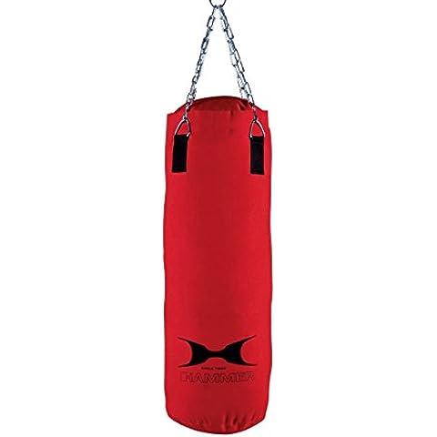 Hammer Canvas - Saco de boxeo rojo rojo Talla:30x80 cm