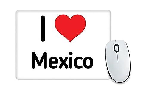 I love Mexiko Mauspad Herz Geschenk Idee Weihnachten