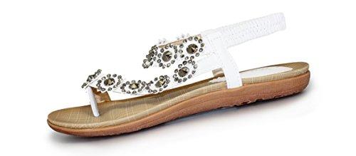 Da donna 'Charlotte' punta-loop sandali White