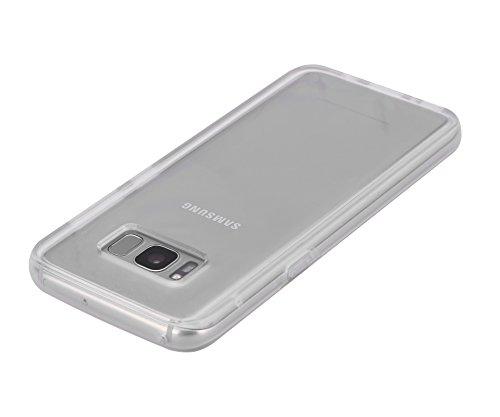 Samsung-Galaxy-S8-Cover-Hi-Luck-TPUPC-Bordo-Proteggi-Anti-impronte-Anti-Scivolo-Shockproof-plastica-Custodia-Per-Samsung-Galaxy-S8-58-Pollicie-2017-Trasparente