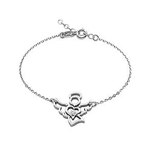 butterfly Mädchen Armband Silber 925 Engel Klar Längen-verstellbar Satin-Beutel Geschenk