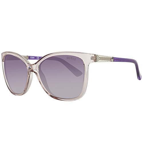 Guess Damen GU7456-5881B Sonnenbrille, (Transparente), 58