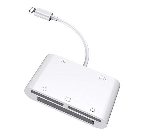 5 in 1 Kartenleser, Multifunktions-Kartenleser-Adapter Unterstützung CF/SD/TF/XD / M2-Karte, kompatibel mit IOS9.1 später