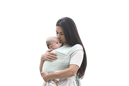 Ergobaby Baby-Tragetuch für Neugeborene bis 11 kg, Elastisches Babytragetuch Sage Atmungsaktiv aus 100% Viskose, Sling für Tragetuch Neulinge - 7
