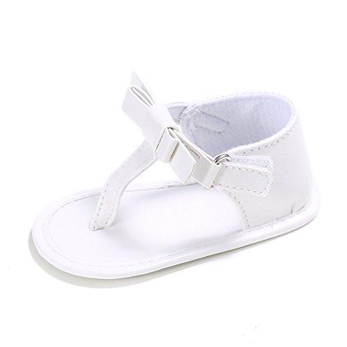 Estamico Bébé filles Summer Sandals enfant flip flops Blanc