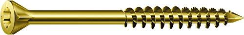 SPAX - Dielenschraube, 3,5 x 55 mm, 500 Stück, T-STAR plus, Senkkopf, Kleiner Fräskopf, Teilgewinde, CUT-Spitze, YELLOX A2L, 35703503202021