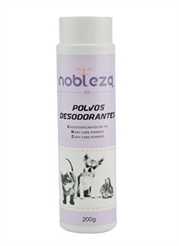 Polvos desodorantes para olores de gatos y perros Nobleza, contenido 200 gr.