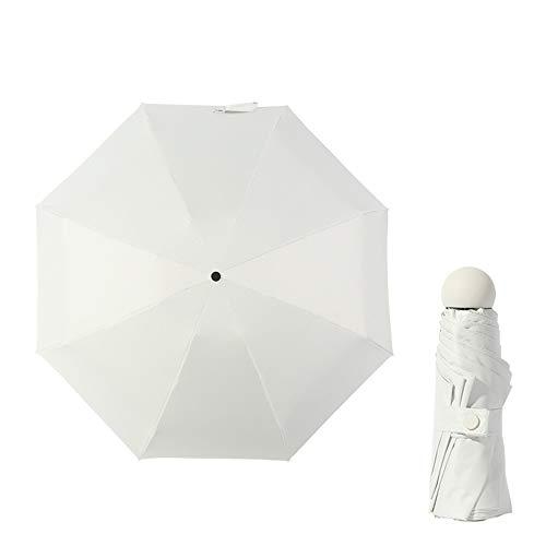 JUNDY Mini Regenschirm Taschenschirm Faltbar Ultralight, Leicht Klein Automatisch Anti-UV Sonnenschirm, Regenschirm Vinyl Bär Sonnenschirm Farbe10 90cm