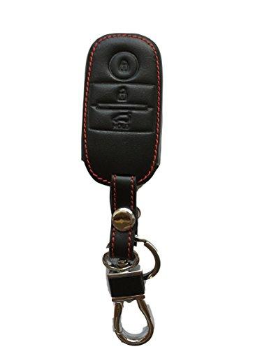 Schlüsseltasche Hülle Etui LEDER – Schutz & Schlüsselanhänger Ersatz - Schlüssel Cover – für Picanto seit 2017 Rio Carens Pro Ceed Niro Optima Sportage Sorento Soul Venga – SMART Key – neuste Modelle