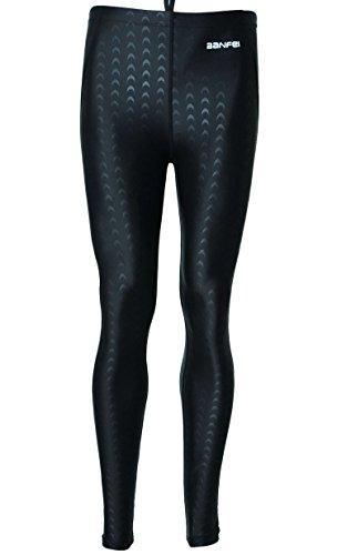 Panegy Unisex Bañador Impermeable Pantalones Largos Traje de Baño de Secado Rápido para Hombres Mujer Competición Buceo Natación Talla L