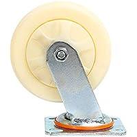 """Zixin 6"""" 8"""" Teniendo Nylon Resistente for Trabajo Pesado usable Caster Plana Wheeler Rueda de Empuje (Color : B)"""