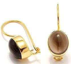 CHANTI - Quartz earrings in gold-plated sterling silver - Model:37856